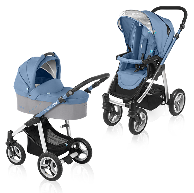 Carucior multifunctional 2 in 1 Baby Design Lupo Blue