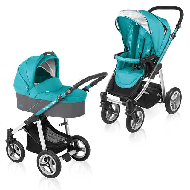 Carucior multifunctional 2 in 1 Baby Design Lupo Turquoise