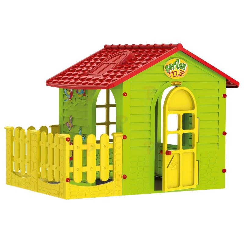 Casuta pentru copii Mochtoys Garden House cu gardut 10839