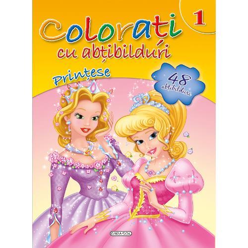 Colorati cu Abtibilduri, Nr.1 - Printese