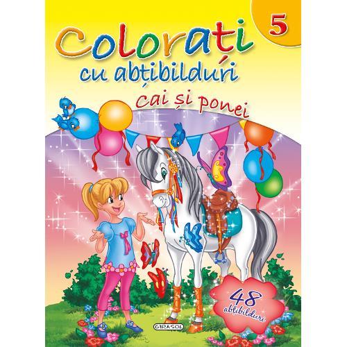 Colorati cu Abtibilduri, Nr.5 - Cai si Ponei