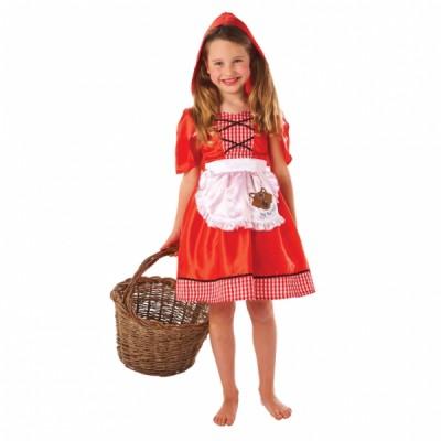 Costum Carnaval Copii Scufita Rosie 6-8 ani