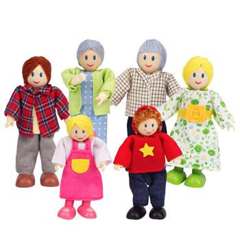Familie de 6 membri (albi) Hape