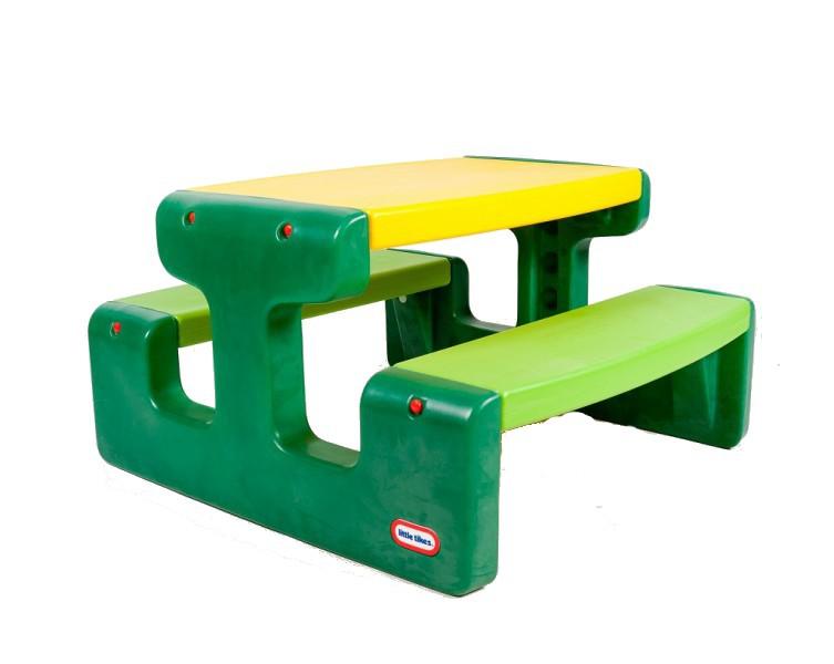 Masa picnic cu bancheta 6 copii Verde
