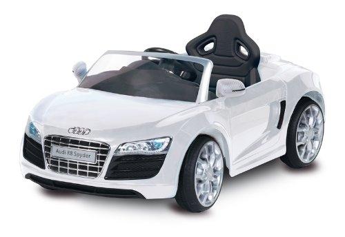 Masinuta Electrica Cu Telecomanda Audi R8 Spyder Alb