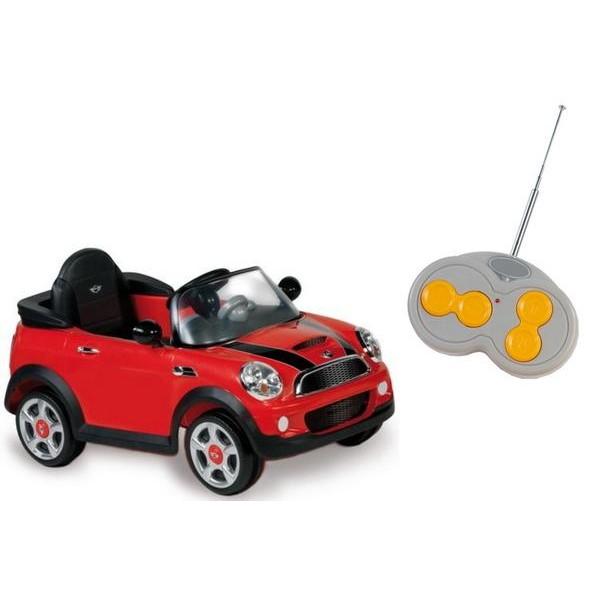 Masinuta Electrica Cu Telecomanda Minicooper S Biemme Rosie
