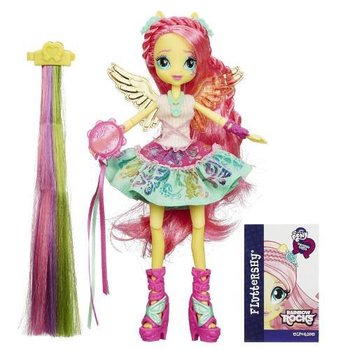 My Little Pony Equestria Girls Fluttershy cu Accesorii de Par