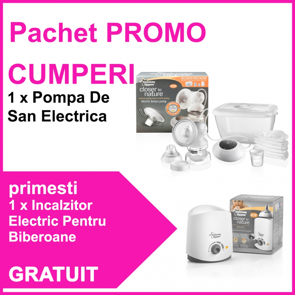 Pachet Pompa De San Electrica + Incalzitor Electric Pentru Biberoane CADOU