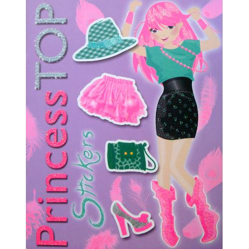 Princess Top Stickers Violet