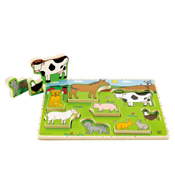 Puzzle Animale domestice Hape