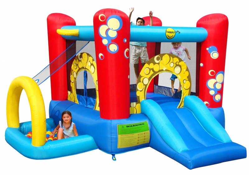 Saltea gonflabila Happy Hop Buble Play Center 4 in 1