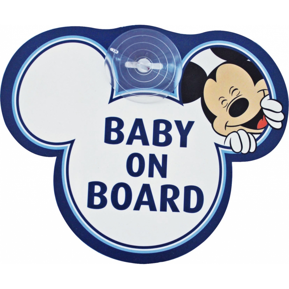 Semn De Avertizare Baby On Board Mickey Disney Eurasia 25008
