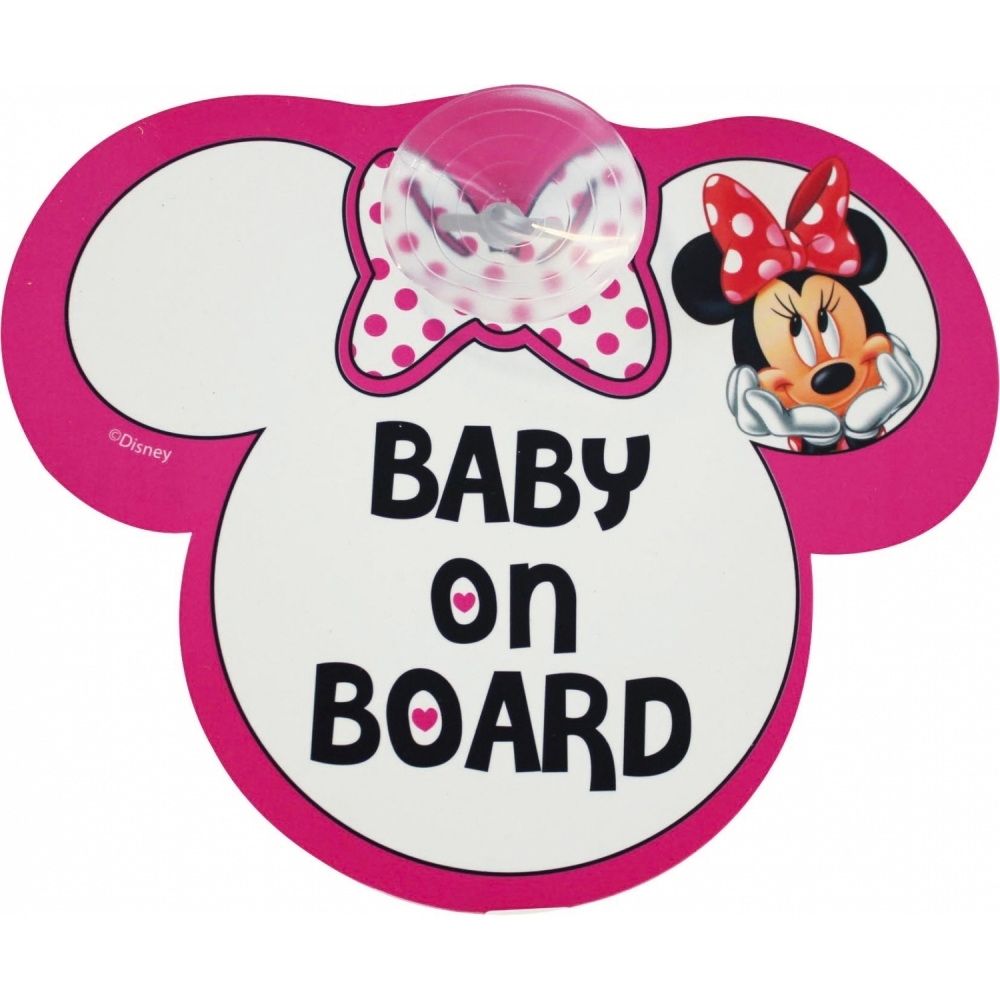 Semn de avertizare Baby on Board Minnie Disney Eurasia 25009