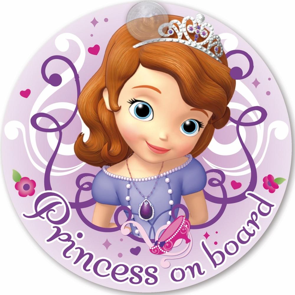 Semn de avertizare Princess on Board Sofia Disney Eurasia 25032