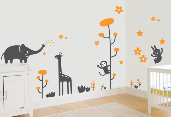 Sticker decorativ Animale vesele