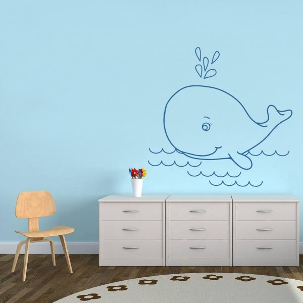 Sticker decorativ Balena