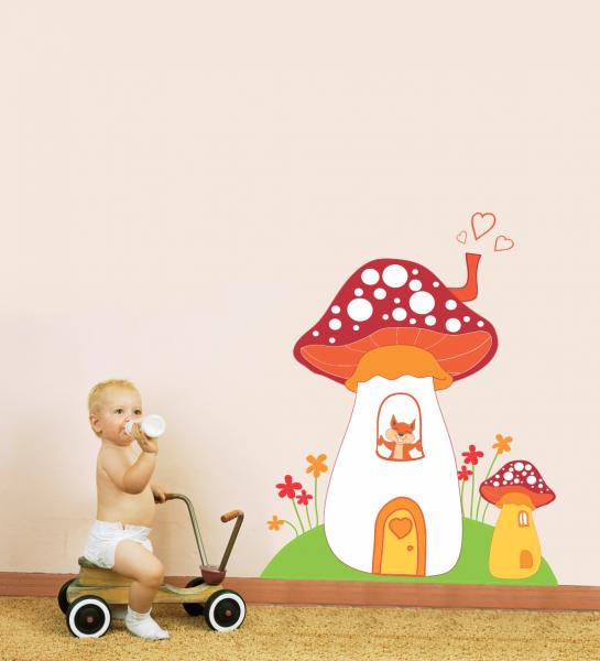 Sticker decorativ Ciupercuta cu vulpe