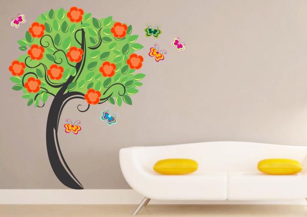 Sticker decorativ Copacul vesel