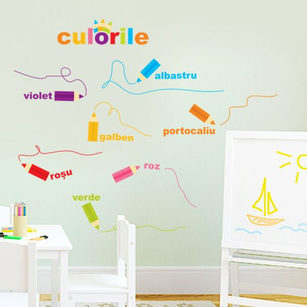 Sticker decorativ Creioanele Magice