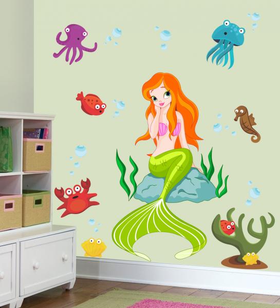 Sticker Decorativ Frumoasa Sirena