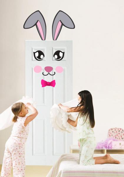 Sticker decorativ Iepuras pentru fetite