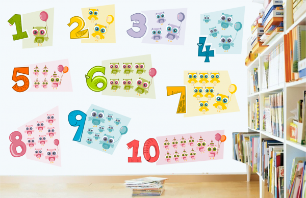 Sticker decorativ Numere Vesele
