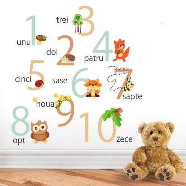 Sticker decorativ Padurea cu Numere