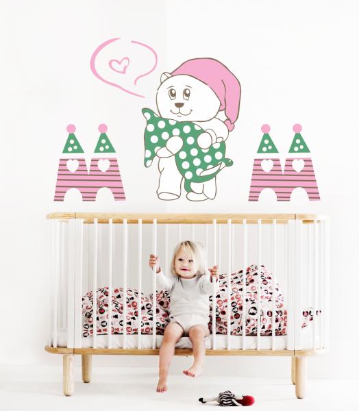 Sticker decorativ Ursuletul somnoros