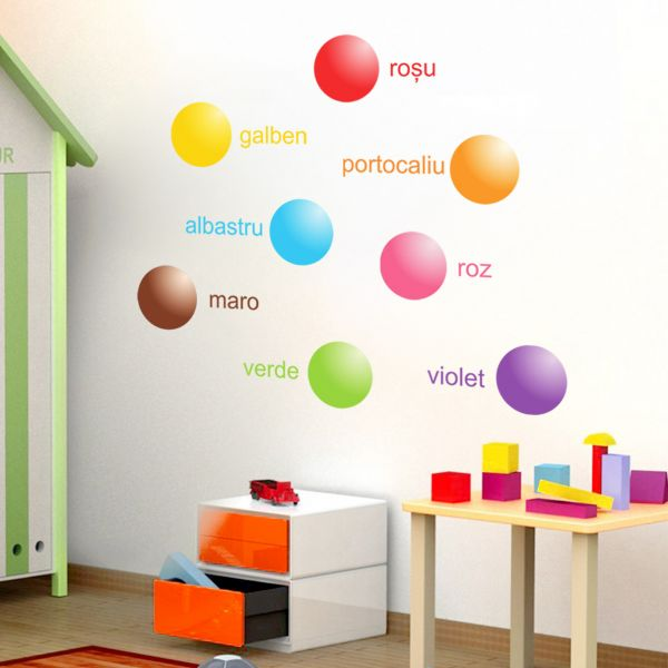 Sticker decorativ Bulinele Colorate
