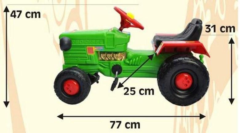 Tractor cu remorca WILLY Albastru