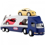 Camion cu rampa si doua masini