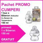 Pachet promo Biberon Anticolici Cu Sistem De Ventilatie 150 ml + Biberon 150 ml CADOU