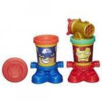 Plastilina Play-Doh Marvel Capitanul America si Iron Man