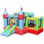 Saltea gonflabila Happy Hop Castel cu loc de joaca cu bile