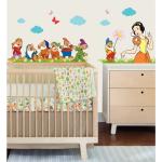 Sticker perete copii Alba ca zapada 106 x 31 cm