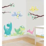 Sticker perete copii Dinozauri 80 x 71 cm