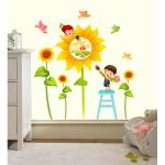 Sticker perete copii Floarea soarelui 80 x 80 cm
