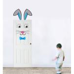 Sticker decorativ Iepuras pentru baietei 50 x 70 cm