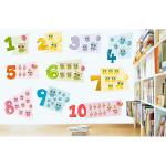 Sticker decorativ Numere Vesele 90 x 59 cm