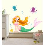 Sticker perete copii Sirena 80 x 43 cm