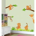 Sticker perete copii Tigrisori 110 x 105 cm