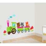 Sticker perete copii Trenulet la plimbare 94 x 35 cm
