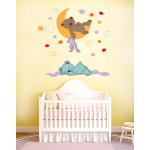 Sticker perete copii Ursuleti dormind 94 x 88 cm