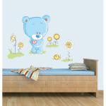 Sticker perete copii Ursuletul fericit 78 x 60 cm