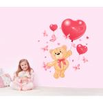 Sticker perete copii Ursuletul indragostit 50 x 43 cm