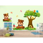 Sticker perete copii Ursuleti in iarba 98 x 78 cm