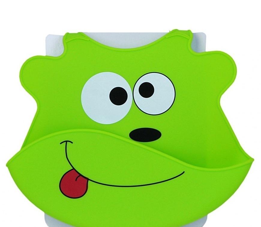 Baveta din silicon Baby Ono Verde