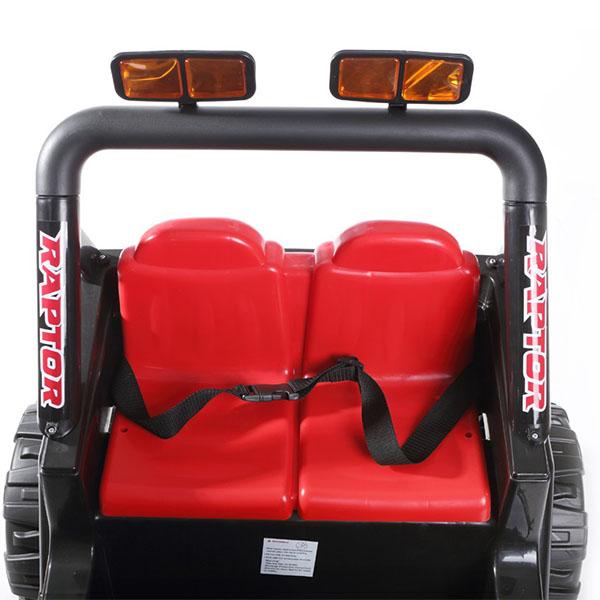 Masinuta electrica cu doua locuri si roti din plastic Drifter Jeep 4x4 Negru - 1