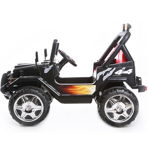 Masinuta electrica cu doua locuri si roti din plastic Drifter Jeep 4x4 Negru - 3