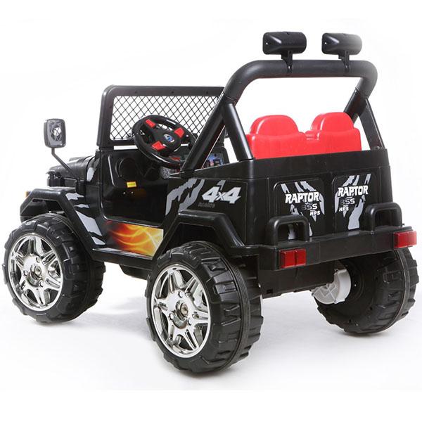 Masinuta electrica cu doua locuri si roti din plastic Drifter Jeep 4x4 Negru - 4